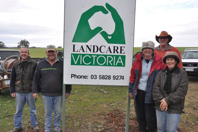 Group members with Landcare sign