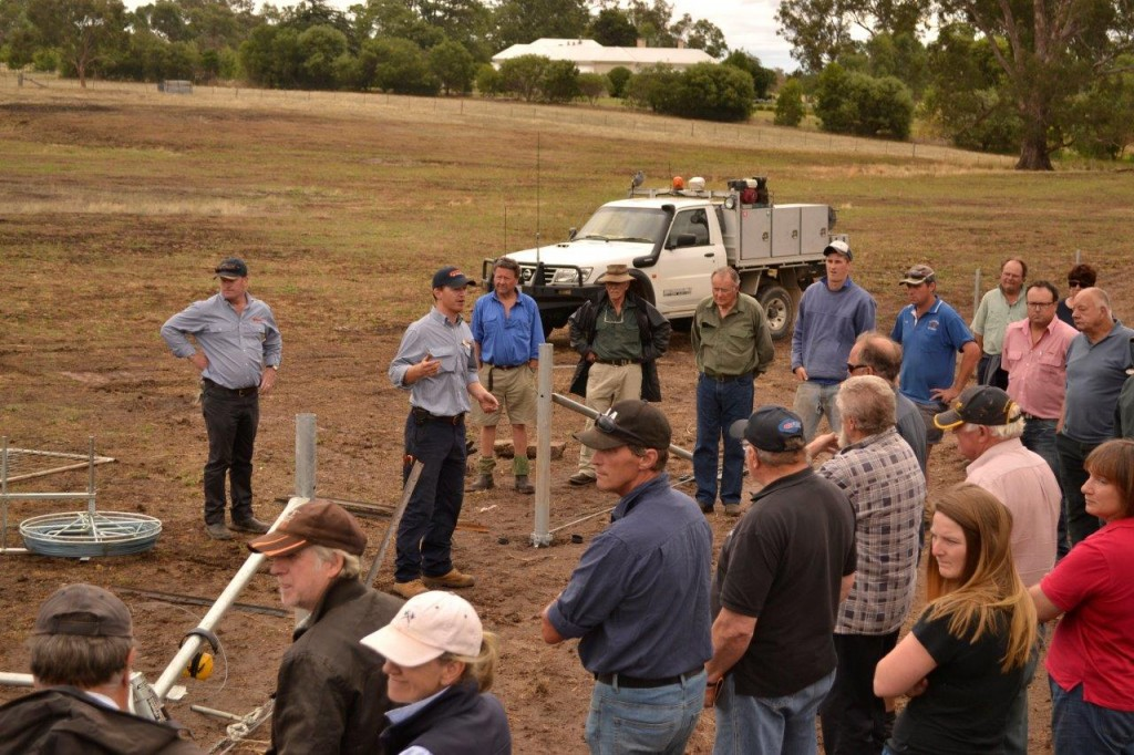 Keiran Kelly from Waratah Fencing presenting at a recent Fencing Day held in Creightons Creek