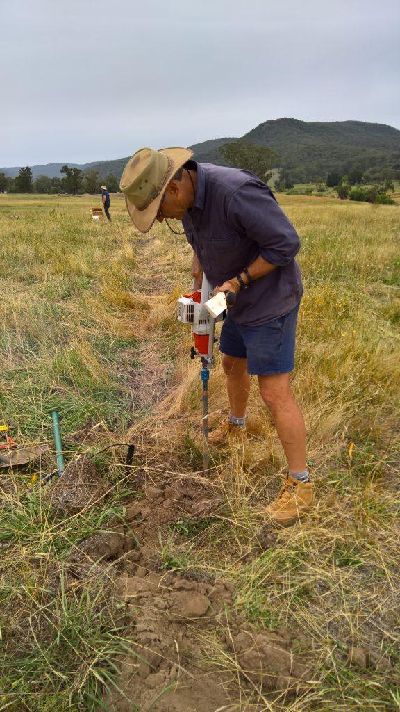 Soil moisture probe install